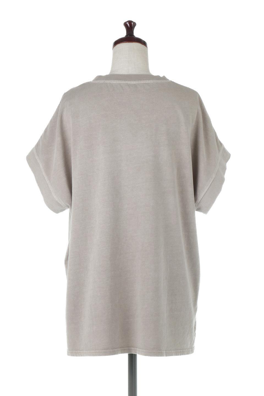 SquareStyleWashedTeeビンテージ風・フレンチスリーブTシャツ大人カジュアルに最適な海外ファッションのothers(その他インポートアイテム)のトップスやTシャツ。ビンテージ風のピグメント加工がポイントのビッグTee。フレンチスリーブで肩から腕のラインをキレイに見せてくれます。/main-14