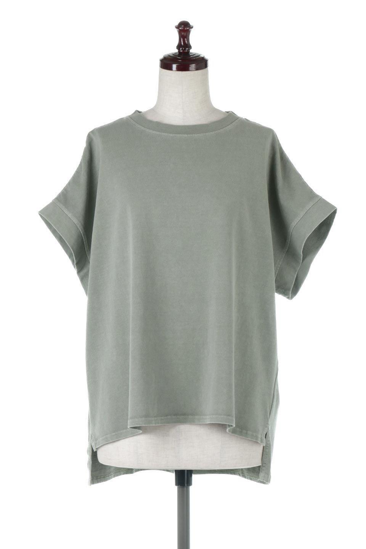 SquareStyleWashedTeeビンテージ風・フレンチスリーブTシャツ大人カジュアルに最適な海外ファッションのothers(その他インポートアイテム)のトップスやTシャツ。ビンテージ風のピグメント加工がポイントのビッグTee。フレンチスリーブで肩から腕のラインをキレイに見せてくれます。/main-15