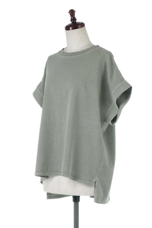 SquareStyleWashedTeeビンテージ風・フレンチスリーブTシャツ大人カジュアルに最適な海外ファッションのothers(その他インポートアイテム)のトップスやTシャツ。ビンテージ風のピグメント加工がポイントのビッグTee。フレンチスリーブで肩から腕のラインをキレイに見せてくれます。/main-16