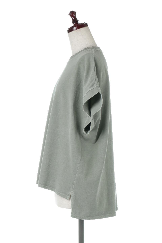 SquareStyleWashedTeeビンテージ風・フレンチスリーブTシャツ大人カジュアルに最適な海外ファッションのothers(その他インポートアイテム)のトップスやTシャツ。ビンテージ風のピグメント加工がポイントのビッグTee。フレンチスリーブで肩から腕のラインをキレイに見せてくれます。/main-17