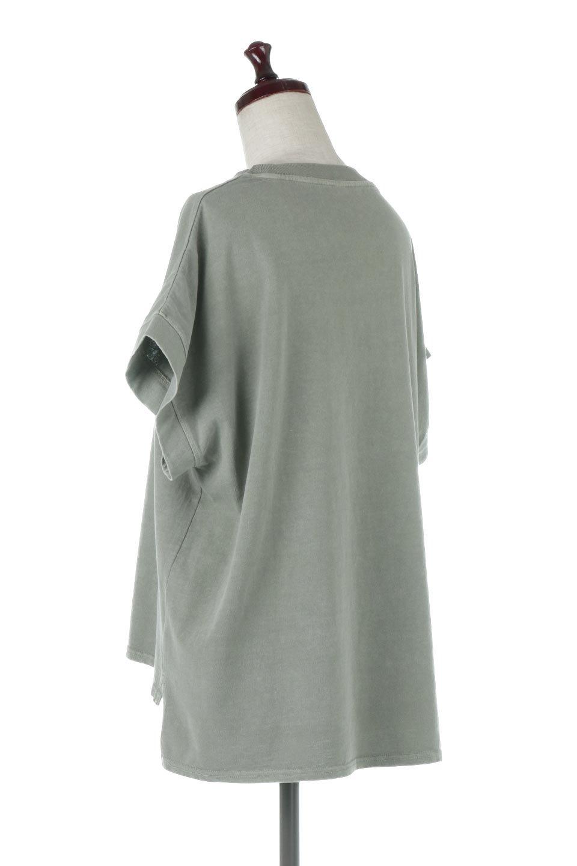 SquareStyleWashedTeeビンテージ風・フレンチスリーブTシャツ大人カジュアルに最適な海外ファッションのothers(その他インポートアイテム)のトップスやTシャツ。ビンテージ風のピグメント加工がポイントのビッグTee。フレンチスリーブで肩から腕のラインをキレイに見せてくれます。/main-18