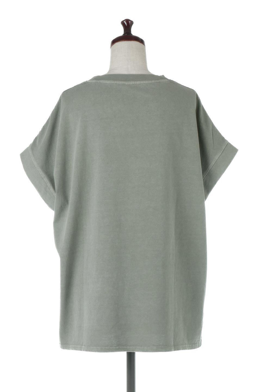 SquareStyleWashedTeeビンテージ風・フレンチスリーブTシャツ大人カジュアルに最適な海外ファッションのothers(その他インポートアイテム)のトップスやTシャツ。ビンテージ風のピグメント加工がポイントのビッグTee。フレンチスリーブで肩から腕のラインをキレイに見せてくれます。/main-19