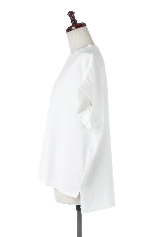 SquareStyleWashedTeeビンテージ風・フレンチスリーブTシャツ大人カジュアルに最適な海外ファッションのothers(その他インポートアイテム)のトップスやTシャツ。ビンテージ風のピグメント加工がポイントのビッグTee。フレンチスリーブで肩から腕のラインをキレイに見せてくれます。/main-2
