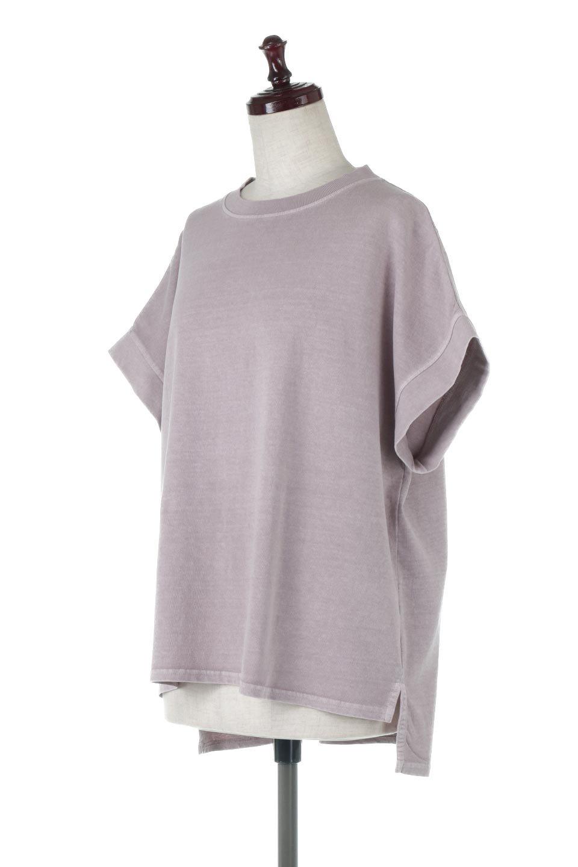 SquareStyleWashedTeeビンテージ風・フレンチスリーブTシャツ大人カジュアルに最適な海外ファッションのothers(その他インポートアイテム)のトップスやTシャツ。ビンテージ風のピグメント加工がポイントのビッグTee。フレンチスリーブで肩から腕のラインをキレイに見せてくれます。/main-21