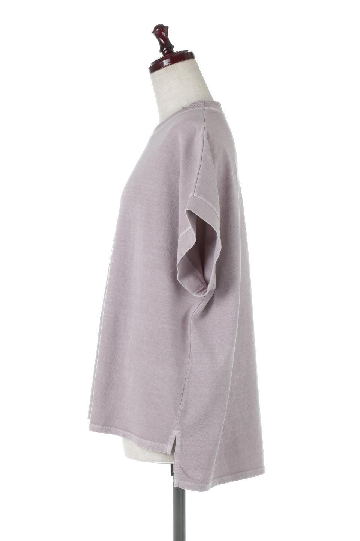 SquareStyleWashedTeeビンテージ風・フレンチスリーブTシャツ大人カジュアルに最適な海外ファッションのothers(その他インポートアイテム)のトップスやTシャツ。ビンテージ風のピグメント加工がポイントのビッグTee。フレンチスリーブで肩から腕のラインをキレイに見せてくれます。/main-22