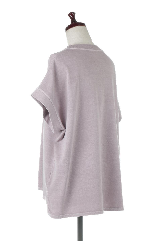 SquareStyleWashedTeeビンテージ風・フレンチスリーブTシャツ大人カジュアルに最適な海外ファッションのothers(その他インポートアイテム)のトップスやTシャツ。ビンテージ風のピグメント加工がポイントのビッグTee。フレンチスリーブで肩から腕のラインをキレイに見せてくれます。/main-23