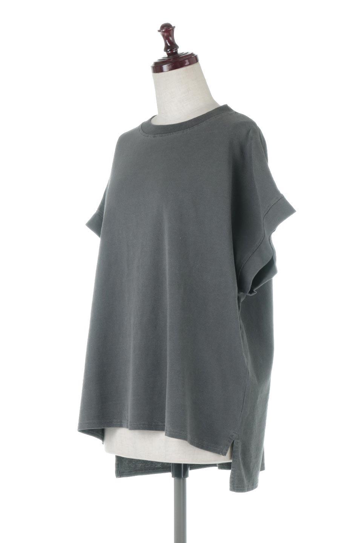 SquareStyleWashedTeeビンテージ風・フレンチスリーブTシャツ大人カジュアルに最適な海外ファッションのothers(その他インポートアイテム)のトップスやTシャツ。ビンテージ風のピグメント加工がポイントのビッグTee。フレンチスリーブで肩から腕のラインをキレイに見せてくれます。/main-26