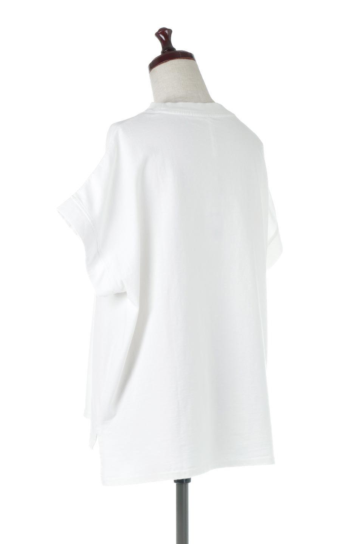 SquareStyleWashedTeeビンテージ風・フレンチスリーブTシャツ大人カジュアルに最適な海外ファッションのothers(その他インポートアイテム)のトップスやTシャツ。ビンテージ風のピグメント加工がポイントのビッグTee。フレンチスリーブで肩から腕のラインをキレイに見せてくれます。/main-3
