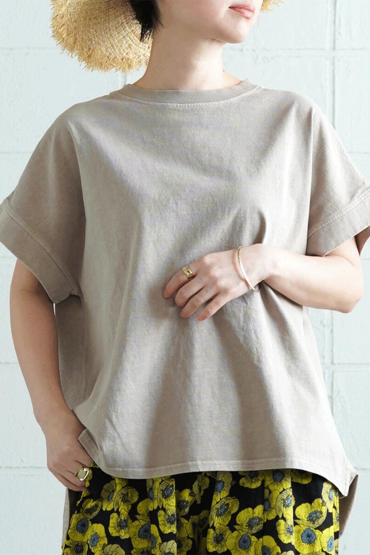 SquareStyleWashedTeeビンテージ風・フレンチスリーブTシャツ大人カジュアルに最適な海外ファッションのothers(その他インポートアイテム)のトップスやTシャツ。ビンテージ風のピグメント加工がポイントのビッグTee。フレンチスリーブで肩から腕のラインをキレイに見せてくれます。/main-39