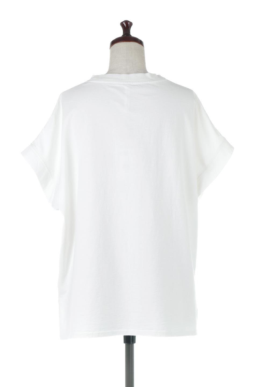 SquareStyleWashedTeeビンテージ風・フレンチスリーブTシャツ大人カジュアルに最適な海外ファッションのothers(その他インポートアイテム)のトップスやTシャツ。ビンテージ風のピグメント加工がポイントのビッグTee。フレンチスリーブで肩から腕のラインをキレイに見せてくれます。/main-4