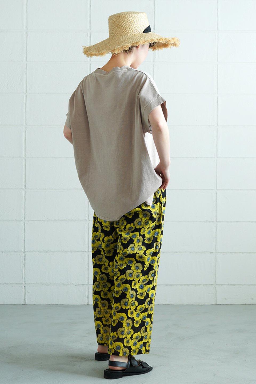 SquareStyleWashedTeeビンテージ風・フレンチスリーブTシャツ大人カジュアルに最適な海外ファッションのothers(その他インポートアイテム)のトップスやTシャツ。ビンテージ風のピグメント加工がポイントのビッグTee。フレンチスリーブで肩から腕のラインをキレイに見せてくれます。/main-40