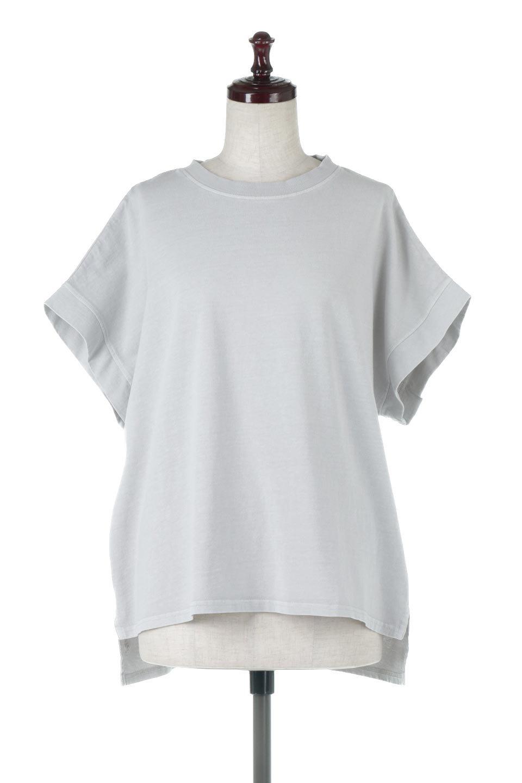 SquareStyleWashedTeeビンテージ風・フレンチスリーブTシャツ大人カジュアルに最適な海外ファッションのothers(その他インポートアイテム)のトップスやTシャツ。ビンテージ風のピグメント加工がポイントのビッグTee。フレンチスリーブで肩から腕のラインをキレイに見せてくれます。/main-5