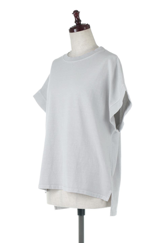 SquareStyleWashedTeeビンテージ風・フレンチスリーブTシャツ大人カジュアルに最適な海外ファッションのothers(その他インポートアイテム)のトップスやTシャツ。ビンテージ風のピグメント加工がポイントのビッグTee。フレンチスリーブで肩から腕のラインをキレイに見せてくれます。/main-6