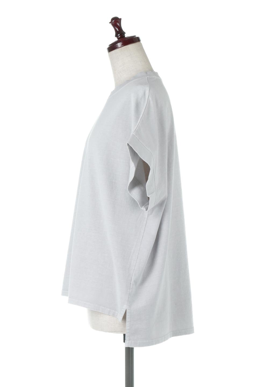 SquareStyleWashedTeeビンテージ風・フレンチスリーブTシャツ大人カジュアルに最適な海外ファッションのothers(その他インポートアイテム)のトップスやTシャツ。ビンテージ風のピグメント加工がポイントのビッグTee。フレンチスリーブで肩から腕のラインをキレイに見せてくれます。/main-7