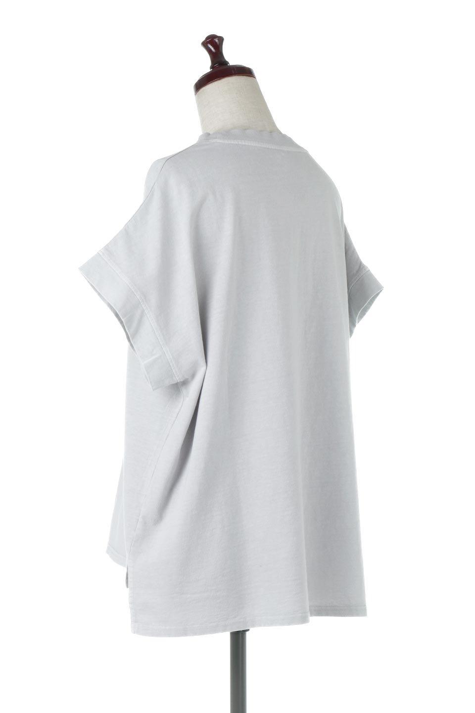 SquareStyleWashedTeeビンテージ風・フレンチスリーブTシャツ大人カジュアルに最適な海外ファッションのothers(その他インポートアイテム)のトップスやTシャツ。ビンテージ風のピグメント加工がポイントのビッグTee。フレンチスリーブで肩から腕のラインをキレイに見せてくれます。/main-8
