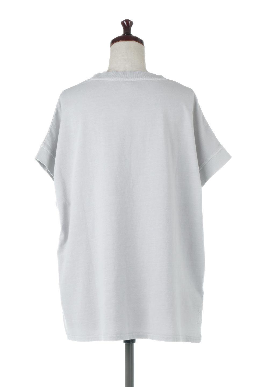 SquareStyleWashedTeeビンテージ風・フレンチスリーブTシャツ大人カジュアルに最適な海外ファッションのothers(その他インポートアイテム)のトップスやTシャツ。ビンテージ風のピグメント加工がポイントのビッグTee。フレンチスリーブで肩から腕のラインをキレイに見せてくれます。/main-9