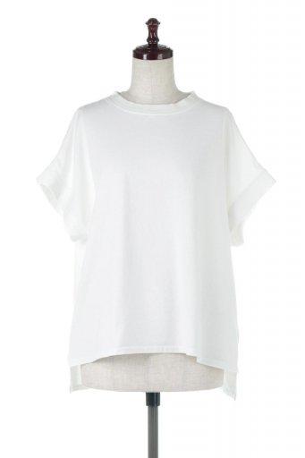 海外ファッションや大人カジュアルに最適なインポートセレクトアイテムのSquare Style Washed Tee ビンテージ風・フレンチスリーブTシャツ