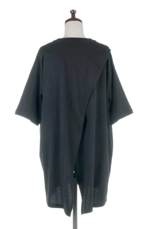 BackSlitLongTailTopバックスリット・ロングTシャツ大人カジュアルに最適な海外ファッションのothers(その他インポートアイテム)のトップスやカットソー。バックスタイルがポイントのビッグシルエットTシャツ。フロントはクルーネックのシンプルでリラックス感のあるTシャツに見えますが、背中はスリットが入ったラップデザイン。/main-19