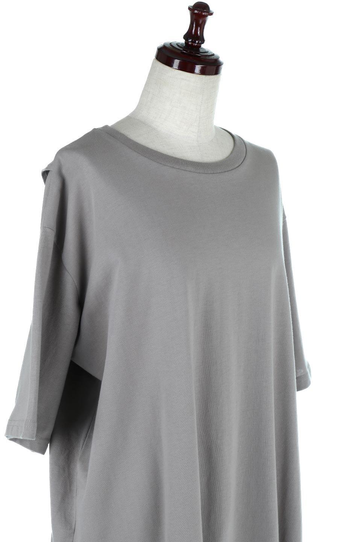 BackSlitLongTailTopバックスリット・ロングTシャツ大人カジュアルに最適な海外ファッションのothers(その他インポートアイテム)のトップスやカットソー。バックスタイルがポイントのビッグシルエットTシャツ。フロントはクルーネックのシンプルでリラックス感のあるTシャツに見えますが、背中はスリットが入ったラップデザイン。/main-20