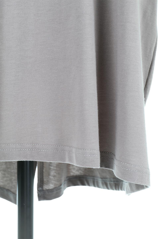 BackSlitLongTailTopバックスリット・ロングTシャツ大人カジュアルに最適な海外ファッションのothers(その他インポートアイテム)のトップスやカットソー。バックスタイルがポイントのビッグシルエットTシャツ。フロントはクルーネックのシンプルでリラックス感のあるTシャツに見えますが、背中はスリットが入ったラップデザイン。/main-24
