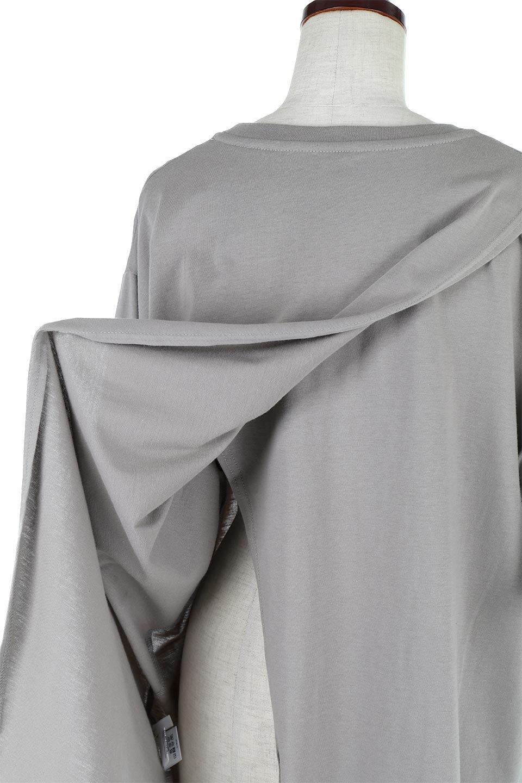 BackSlitLongTailTopバックスリット・ロングTシャツ大人カジュアルに最適な海外ファッションのothers(その他インポートアイテム)のトップスやカットソー。バックスタイルがポイントのビッグシルエットTシャツ。フロントはクルーネックのシンプルでリラックス感のあるTシャツに見えますが、背中はスリットが入ったラップデザイン。/main-25