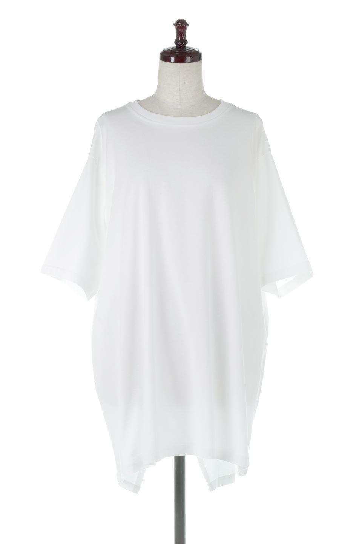 BackSlitLongTailTopバックスリット・ロングTシャツ大人カジュアルに最適な海外ファッションのothers(その他インポートアイテム)のトップスやカットソー。バックスタイルがポイントのビッグシルエットTシャツ。フロントはクルーネックのシンプルでリラックス感のあるTシャツに見えますが、背中はスリットが入ったラップデザイン。/main-5
