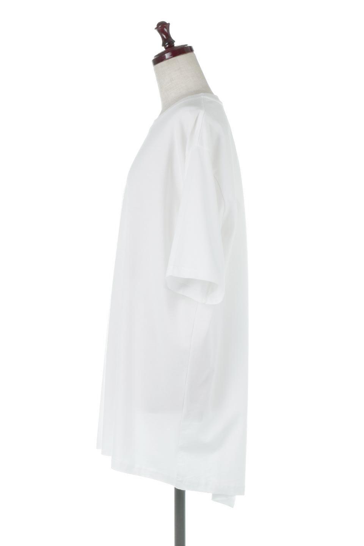 BackSlitLongTailTopバックスリット・ロングTシャツ大人カジュアルに最適な海外ファッションのothers(その他インポートアイテム)のトップスやカットソー。バックスタイルがポイントのビッグシルエットTシャツ。フロントはクルーネックのシンプルでリラックス感のあるTシャツに見えますが、背中はスリットが入ったラップデザイン。/main-7
