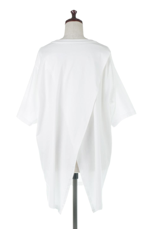 BackSlitLongTailTopバックスリット・ロングTシャツ大人カジュアルに最適な海外ファッションのothers(その他インポートアイテム)のトップスやカットソー。バックスタイルがポイントのビッグシルエットTシャツ。フロントはクルーネックのシンプルでリラックス感のあるTシャツに見えますが、背中はスリットが入ったラップデザイン。/main-9