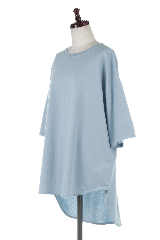 RoundHemBigSilhouetteTeeビッグシルエット・ラウンドTシャツ大人カジュアルに最適な海外ファッションのothers(その他インポートアイテム)のトップスやカットソー。ボディラインと裾に丸みを持たせたデザインのロングTシャツ。ドロップショルダーでルーズでリラックス感あふれるシルエットを作ります。/main-1