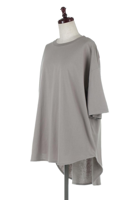 RoundHemBigSilhouetteTeeビッグシルエット・ラウンドTシャツ大人カジュアルに最適な海外ファッションのothers(その他インポートアイテム)のトップスやカットソー。ボディラインと裾に丸みを持たせたデザインのロングTシャツ。ドロップショルダーでルーズでリラックス感あふれるシルエットを作ります。/main-11