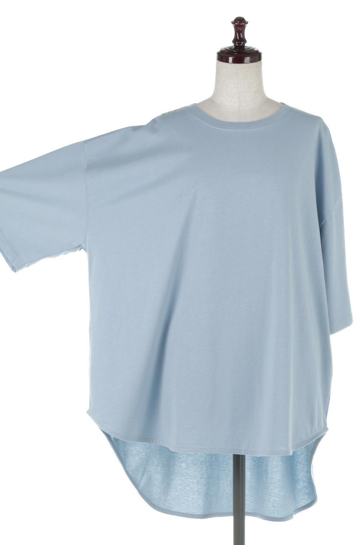 RoundHemBigSilhouetteTeeビッグシルエット・ラウンドTシャツ大人カジュアルに最適な海外ファッションのothers(その他インポートアイテム)のトップスやカットソー。ボディラインと裾に丸みを持たせたデザインのロングTシャツ。ドロップショルダーでルーズでリラックス感あふれるシルエットを作ります。/main-18