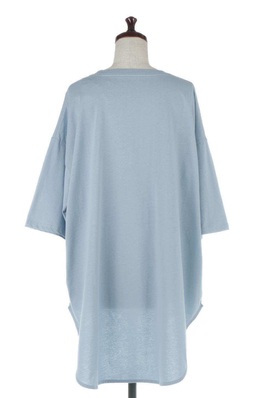 RoundHemBigSilhouetteTeeビッグシルエット・ラウンドTシャツ大人カジュアルに最適な海外ファッションのothers(その他インポートアイテム)のトップスやカットソー。ボディラインと裾に丸みを持たせたデザインのロングTシャツ。ドロップショルダーでルーズでリラックス感あふれるシルエットを作ります。/main-4