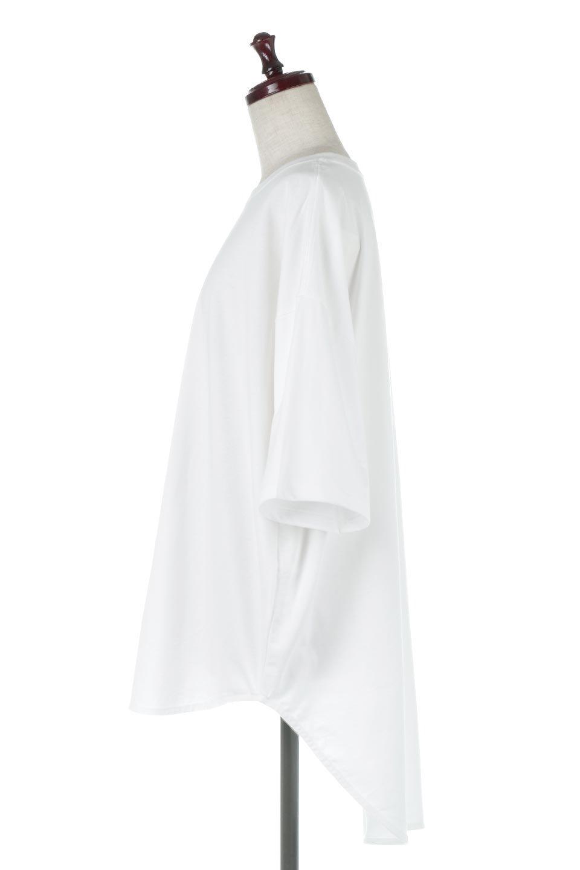 RoundHemBigSilhouetteTeeビッグシルエット・ラウンドTシャツ大人カジュアルに最適な海外ファッションのothers(その他インポートアイテム)のトップスやカットソー。ボディラインと裾に丸みを持たせたデザインのロングTシャツ。ドロップショルダーでルーズでリラックス感あふれるシルエットを作ります。/main-7