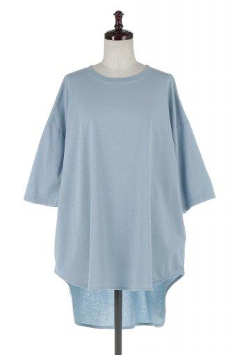 Round Hem Big Silhouette Tee ビッグシルエット・ラウンドTシャツ / 大人カジュアルに最適な海外ファッションが得意な福島市のセレクトショップbloom