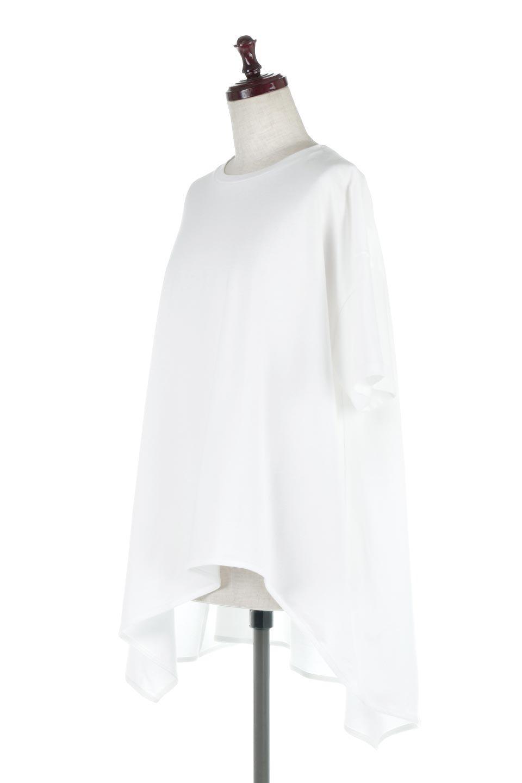 AsymmetricalHemBigTeeアシメントリー・ビッグシルエットTシャツ大人カジュアルに最適な海外ファッションのothers(その他インポートアイテム)のトップスやカットソー。斜めにカットされたアシメントリーの裾がポイントのビッグTee。ゆったりとしたリラックス感のあるシルエットで、ややAラインのシルエットが可愛いアイテム。/main-1