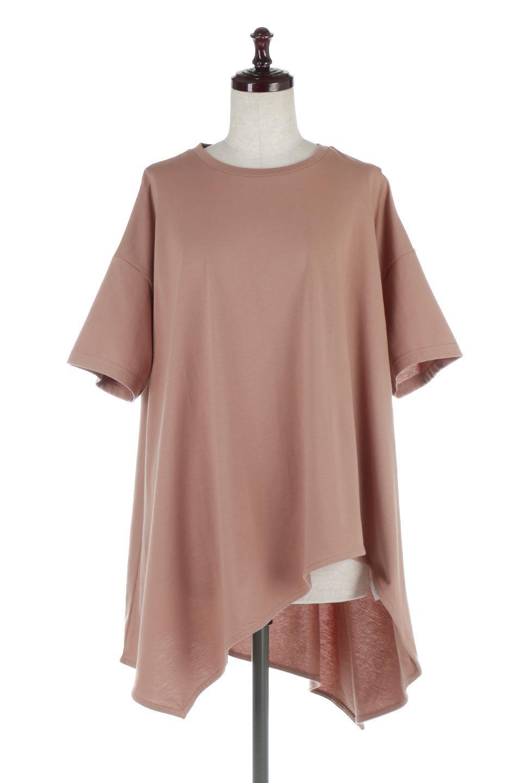 AsymmetricalHemBigTeeアシメントリー・ビッグシルエットTシャツ大人カジュアルに最適な海外ファッションのothers(その他インポートアイテム)のトップスやカットソー。斜めにカットされたアシメントリーの裾がポイントのビッグTee。ゆったりとしたリラックス感のあるシルエットで、ややAラインのシルエットが可愛いアイテム。/main-10