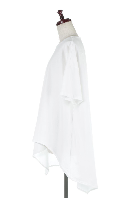 AsymmetricalHemBigTeeアシメントリー・ビッグシルエットTシャツ大人カジュアルに最適な海外ファッションのothers(その他インポートアイテム)のトップスやカットソー。斜めにカットされたアシメントリーの裾がポイントのビッグTee。ゆったりとしたリラックス感のあるシルエットで、ややAラインのシルエットが可愛いアイテム。/main-2