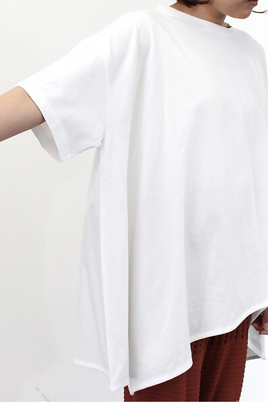 AsymmetricalHemBigTeeアシメントリー・ビッグシルエットTシャツ大人カジュアルに最適な海外ファッションのothers(その他インポートアイテム)のトップスやカットソー。斜めにカットされたアシメントリーの裾がポイントのビッグTee。ゆったりとしたリラックス感のあるシルエットで、ややAラインのシルエットが可愛いアイテム。/main-25