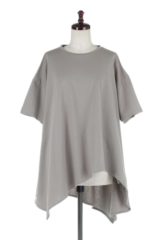AsymmetricalHemBigTeeアシメントリー・ビッグシルエットTシャツ大人カジュアルに最適な海外ファッションのothers(その他インポートアイテム)のトップスやカットソー。斜めにカットされたアシメントリーの裾がポイントのビッグTee。ゆったりとしたリラックス感のあるシルエットで、ややAラインのシルエットが可愛いアイテム。/main-5