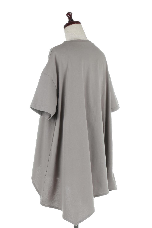 AsymmetricalHemBigTeeアシメントリー・ビッグシルエットTシャツ大人カジュアルに最適な海外ファッションのothers(その他インポートアイテム)のトップスやカットソー。斜めにカットされたアシメントリーの裾がポイントのビッグTee。ゆったりとしたリラックス感のあるシルエットで、ややAラインのシルエットが可愛いアイテム。/main-8