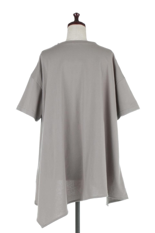 AsymmetricalHemBigTeeアシメントリー・ビッグシルエットTシャツ大人カジュアルに最適な海外ファッションのothers(その他インポートアイテム)のトップスやカットソー。斜めにカットされたアシメントリーの裾がポイントのビッグTee。ゆったりとしたリラックス感のあるシルエットで、ややAラインのシルエットが可愛いアイテム。/main-9