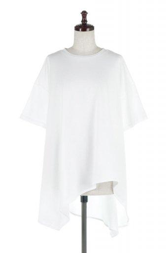 Asymmetrical Hem Big Tee アシメントリー・ビッグシルエットTシャツ / 大人カジュアルに最適な海外ファッションが得意な福島市のセレクトショップbloom