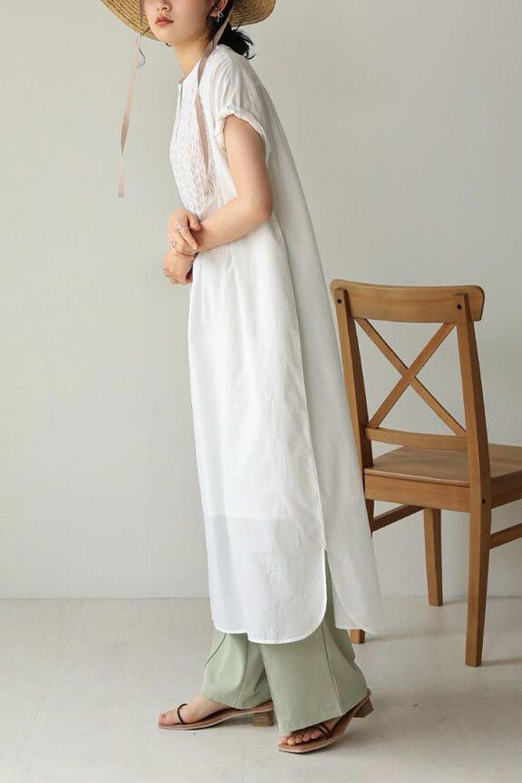 IndianCottonSmockingLongDressインド綿使用・スモッキングワンピース大人カジュアルに最適な海外ファッションのothers(その他インポートアイテム)のワンピースやミディワンピース。立体的なスモッキング刺繍が印象的なゆったりシルエットのワンピース。ナチュラルなコットンの生地なので、汗ばむ季節でも体に張り付くことなく快適です。/main-16