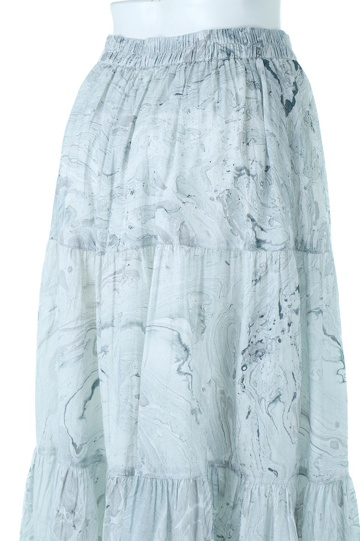 MarblePatternTieredLongSkirtマーブルパターン・ティアードスカート大人カジュアルに最適な海外ファッションのothers(その他インポートアイテム)のボトムやスカート。マーブル模様が涼し気なギャザーをたっぷりよせた3段ティアードスカート。動くたびに揺れるシルエットが涼し気な印象のスカートです。/main-8