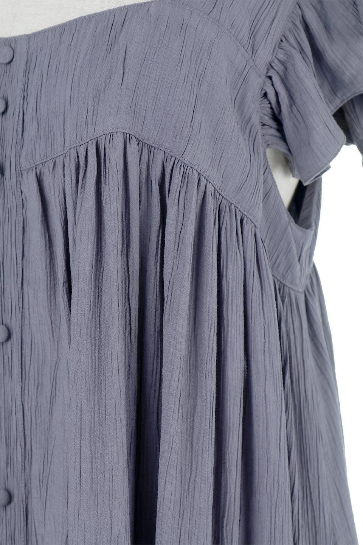 SquareNeckFrillSleeveDressスクエアネック・フリルスリーブドレス大人カジュアルに最適な海外ファッションのothers(その他インポートアイテム)のワンピースやマキシワンピース。スラリと見えるゆったりデザインのサマーワンピース。縦方向に流れる生地がスタイルを良く見せてくれ、ワッシャーのようなプリーツ風の凹凸のあるみずみずしいテクスチャーが、暑い日にもサラサラで肌離れを良く快適にしてくれるアイテム。/main-17