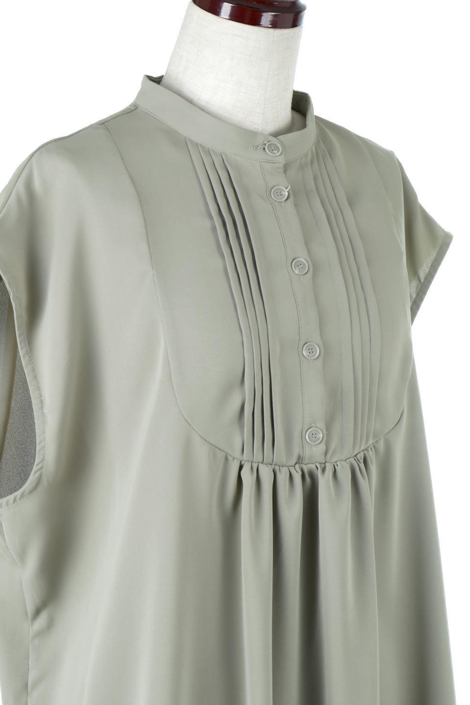 FrenchSleevePinTuckedBosomBlouseピンタック入り・ブザムブラウス大人カジュアルに最適な海外ファッションのothers(その他インポートアイテム)のトップスやシャツ・ブラウス。光沢を抑えたマットサテンを使った上品な印象のブラウス。腕を華奢に見せ、羽織にも響きにくく扱いやすいフレンチスリーブのアイテムです。/main-15