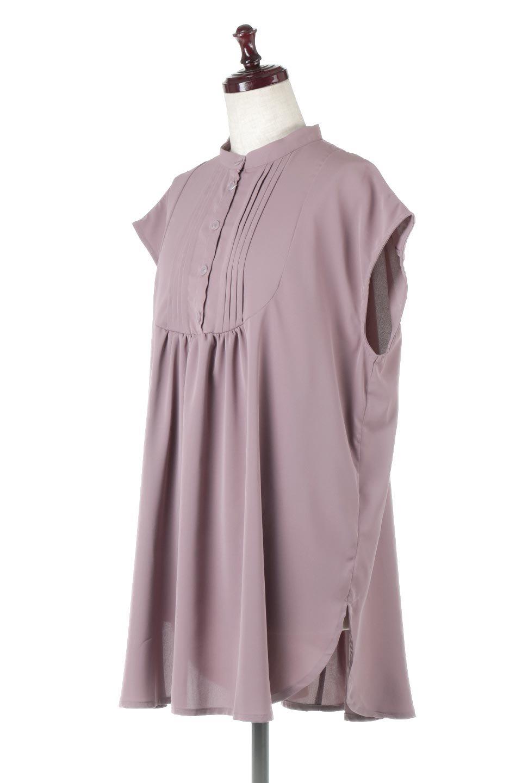 FrenchSleevePinTuckedBosomBlouseピンタック入り・ブザムブラウス大人カジュアルに最適な海外ファッションのothers(その他インポートアイテム)のトップスやシャツ・ブラウス。光沢を抑えたマットサテンを使った上品な印象のブラウス。腕を華奢に見せ、羽織にも響きにくく扱いやすいフレンチスリーブのアイテムです。/main-6