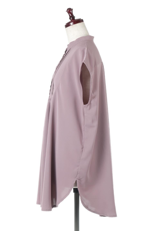 FrenchSleevePinTuckedBosomBlouseピンタック入り・ブザムブラウス大人カジュアルに最適な海外ファッションのothers(その他インポートアイテム)のトップスやシャツ・ブラウス。光沢を抑えたマットサテンを使った上品な印象のブラウス。腕を華奢に見せ、羽織にも響きにくく扱いやすいフレンチスリーブのアイテムです。/main-7