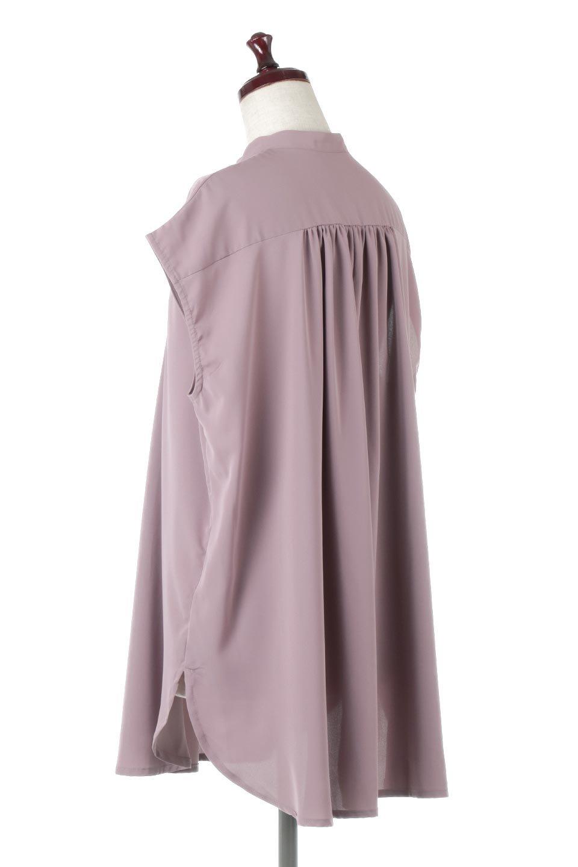 FrenchSleevePinTuckedBosomBlouseピンタック入り・ブザムブラウス大人カジュアルに最適な海外ファッションのothers(その他インポートアイテム)のトップスやシャツ・ブラウス。光沢を抑えたマットサテンを使った上品な印象のブラウス。腕を華奢に見せ、羽織にも響きにくく扱いやすいフレンチスリーブのアイテムです。/main-8