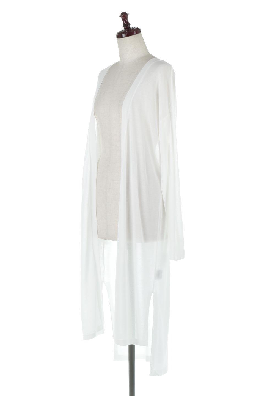 RibLineSleeveShearLongCardiganラインスリーブ・シアーカーディガン大人カジュアルに最適な海外ファッションのothers(その他インポートアイテム)のアウターやカーディガン。サラリとした触感で暑い時期にも重宝する長袖カーディガン。トレンド感のあるロング丈のデザインとバックウエストに通った紐ベルトで、後ろ姿にもメリハリがあるアイテム。/main-1